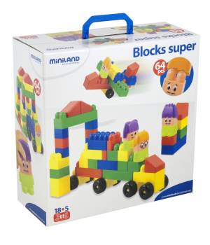 Miniland Blocks Super Characteristics (64 pc)